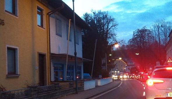 Stau in Oberndorf