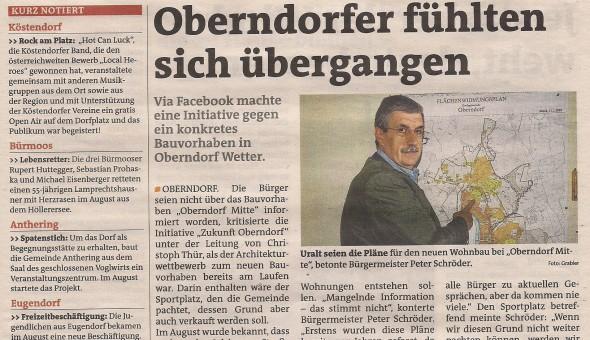Bezirksblätter Jahresrückblick 2012