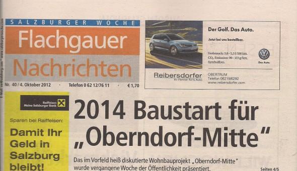 Flachgauer Nachrichten 04.10.2012 - Titelblatt